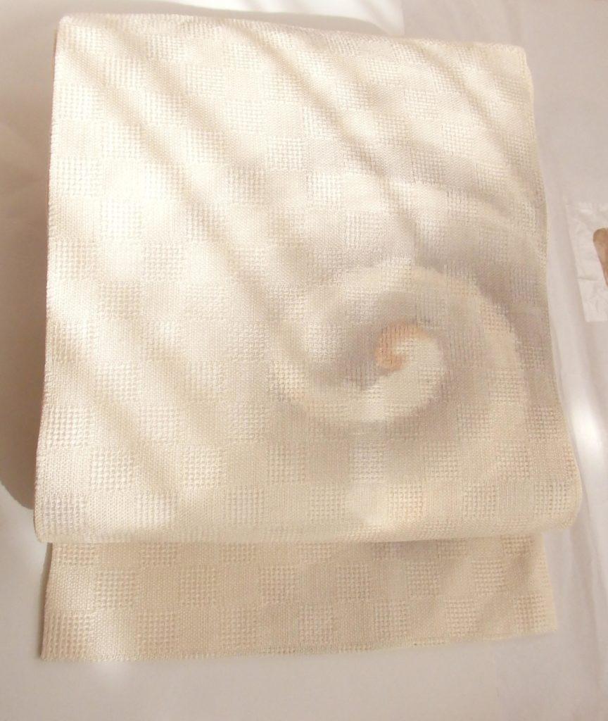夏用の名古屋帯 波紋柄