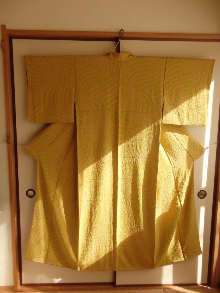 黄色の着物