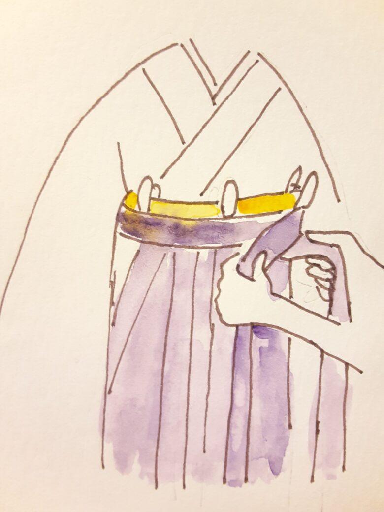 袴の着付け5-2