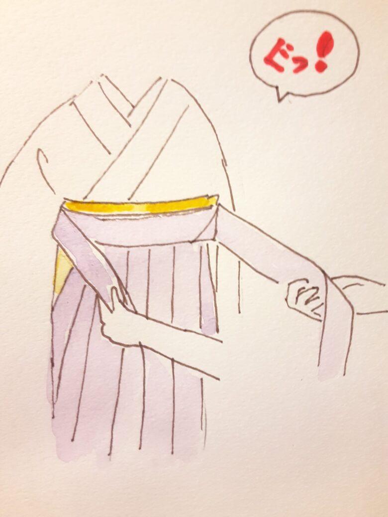 袴の着付け10-2