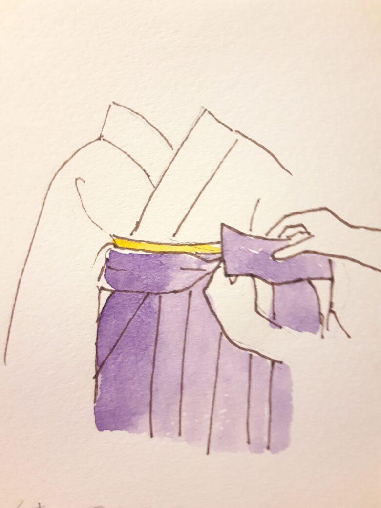 袴の着付け13-2