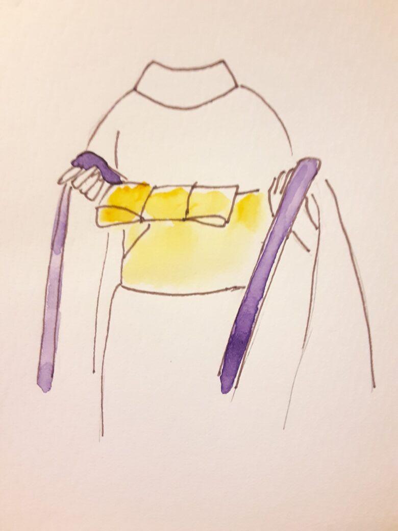 袴の着付け3-2