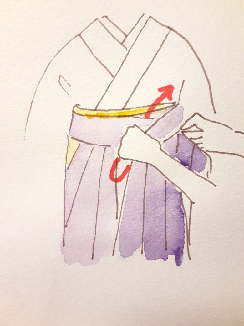 袴の着付け11