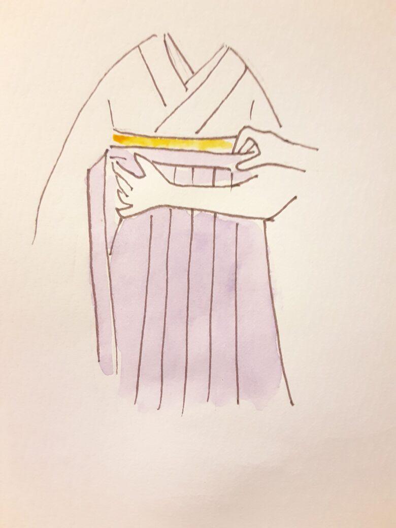 袴の着付け1