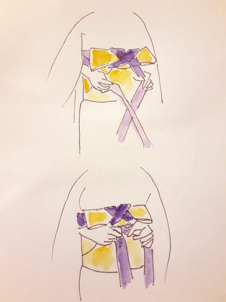 袴の着付け7