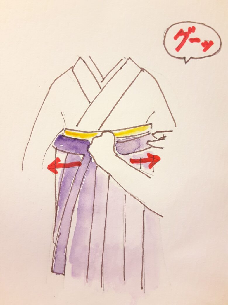袴の着付け6