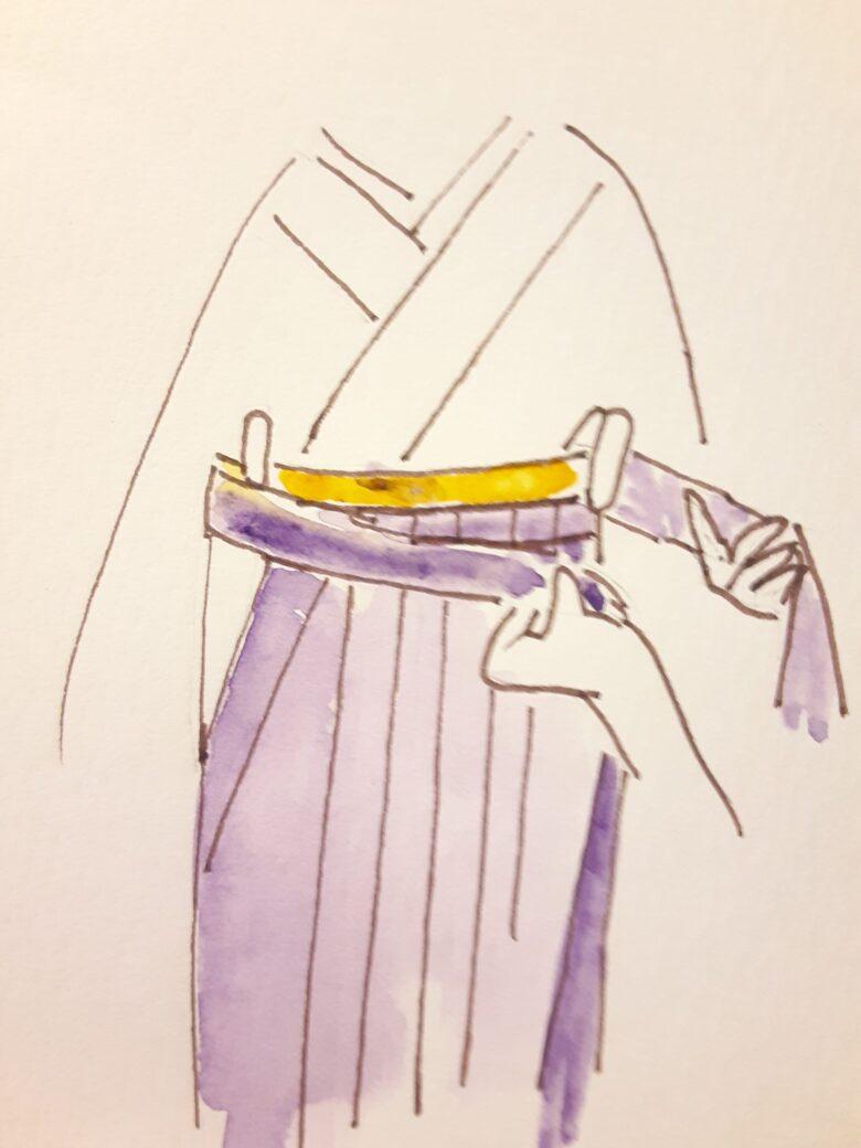 袴の着付け5-1
