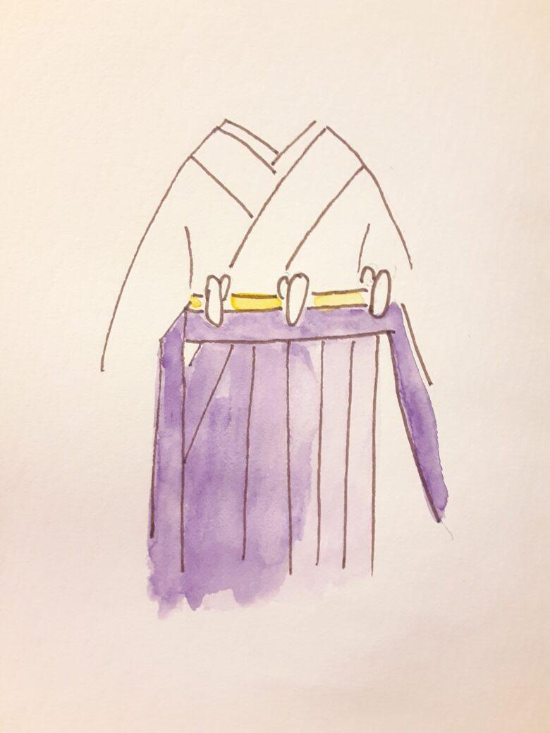 袴の着付け2