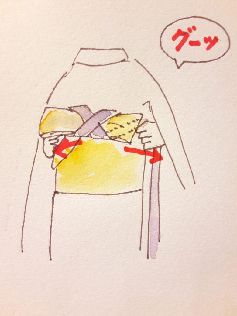 袴の着付け4