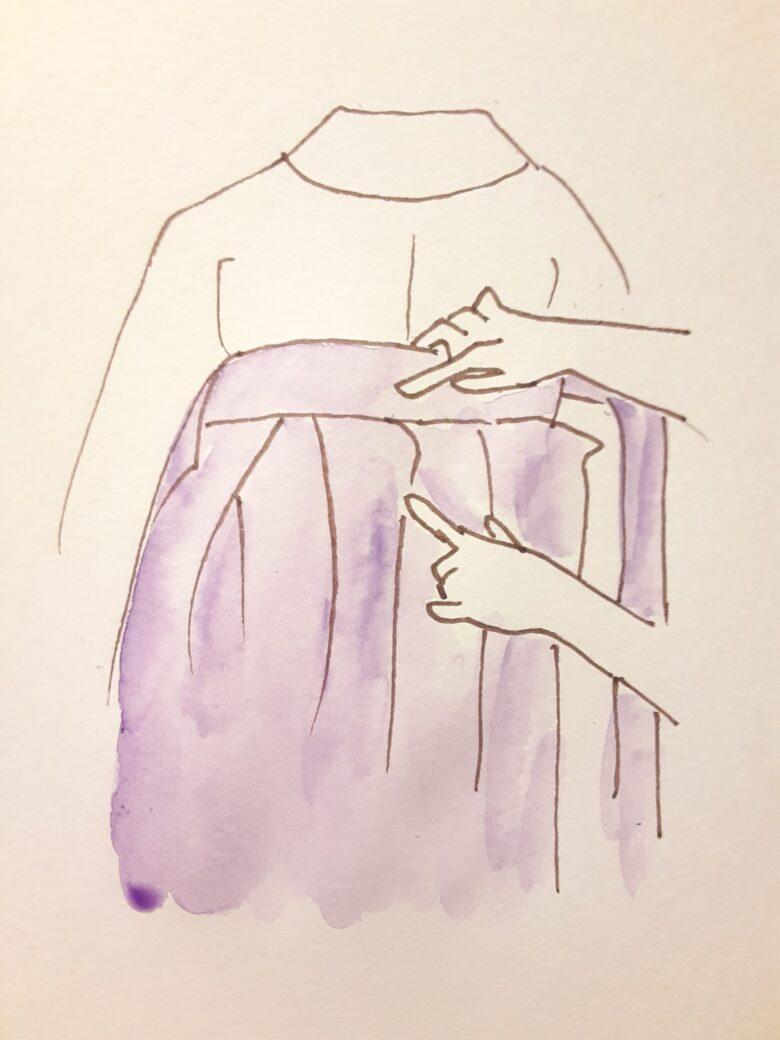 袴の着付け10-1