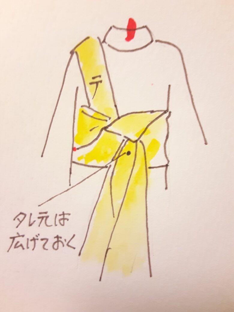 袴の着付け 半幅帯の結び方8