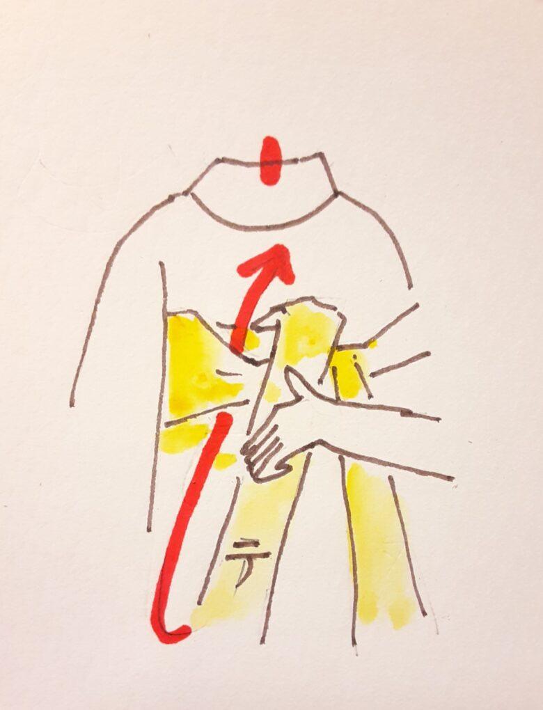 袴の着付け 半幅帯の結び方6