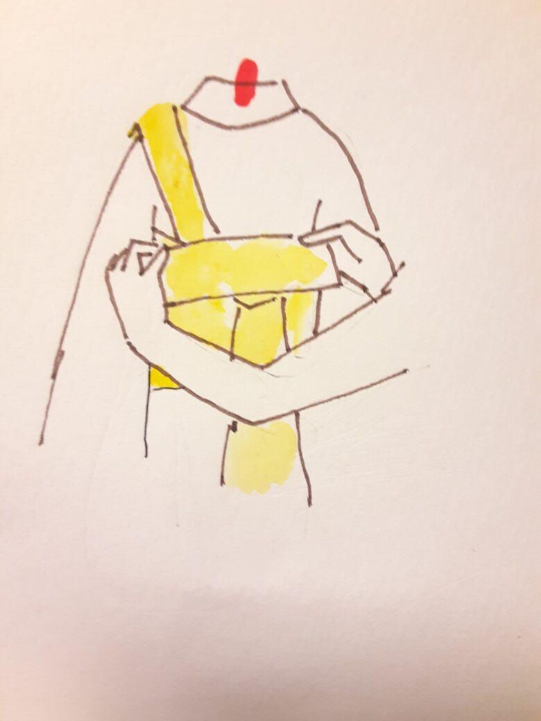 袴の着付け 半幅帯の結び方9