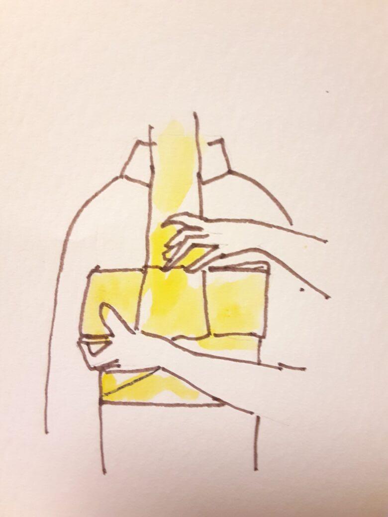 袴の着付け 半幅帯の結び方14