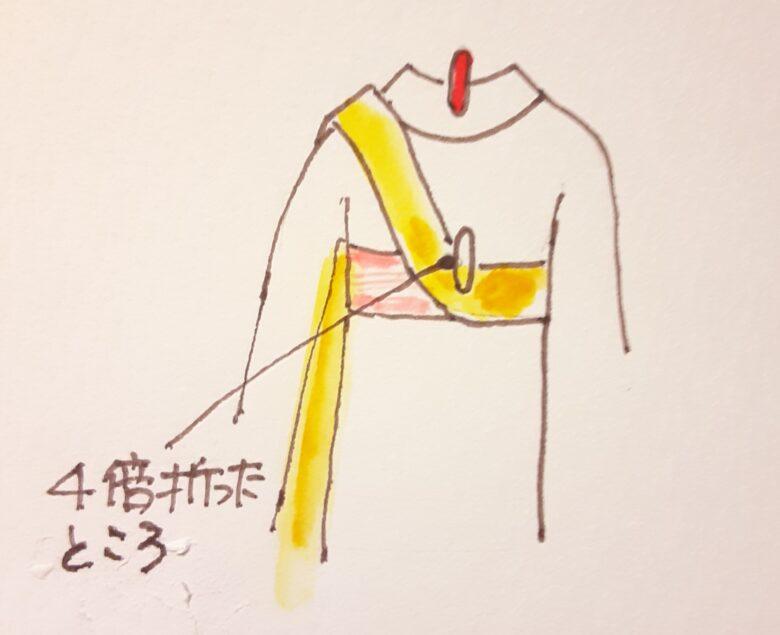 袴の着付け 半幅帯の結び方2-2