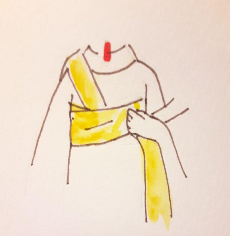 袴の着付け 半幅帯の結び方3