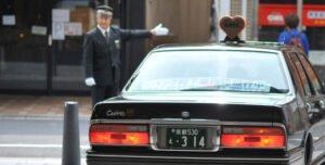 京都のタクシーを撮影した写真