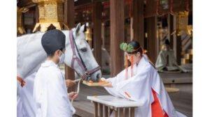上賀茂神社の神馬交代を撮影した写真
