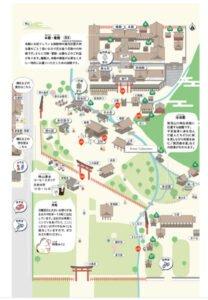 上賀茂神社境内案内図を撮影した写真