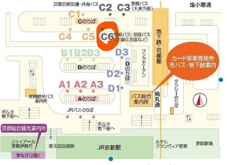 京都駅のバス乗り場