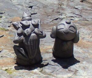 京都勝林寺のお地蔵様を撮影した写真