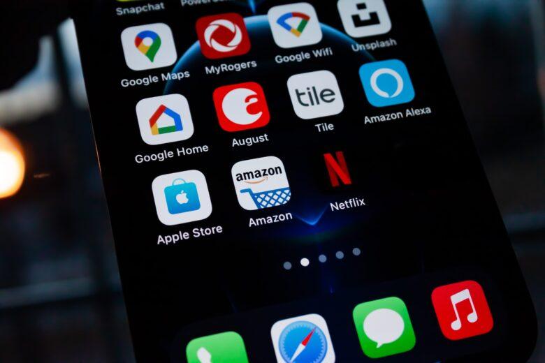 スマホのAmazonアプリ画面